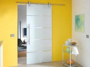 Стъклена интериорна врата